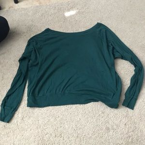American apparel long sleeve with lace back